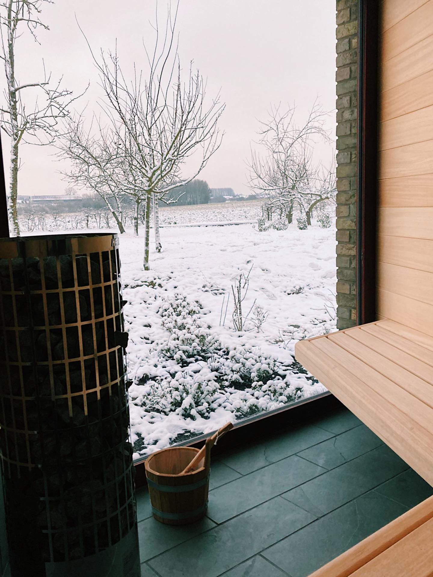 sneeuw sauna